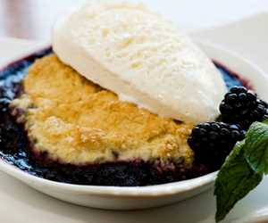 blueberry compote dessert